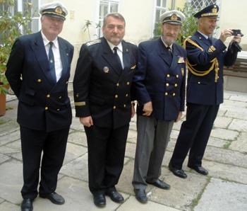 От ляво надясно - Маркус Хабсбург, Станко Станков, Карл Скриванек и италианският аташе в Австрия.