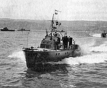 """Малък преследвач на подводници МО-4 (""""Малый охотник"""") от състава на Българските военноморски сили."""