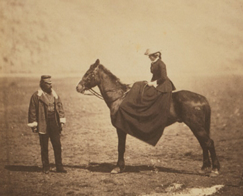 Fanny Duberly, Camp before Sebastopol. Roger Fenton, 15 April 1855
